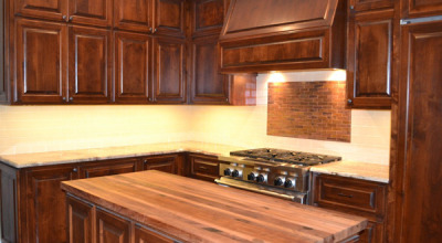 Red Ranch, Kitchen - Island, counters, and cabinets