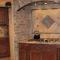 Beauregard kitchen remodel - brick arch range