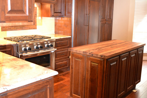 Red Ranch - Custom kitchen cabinets